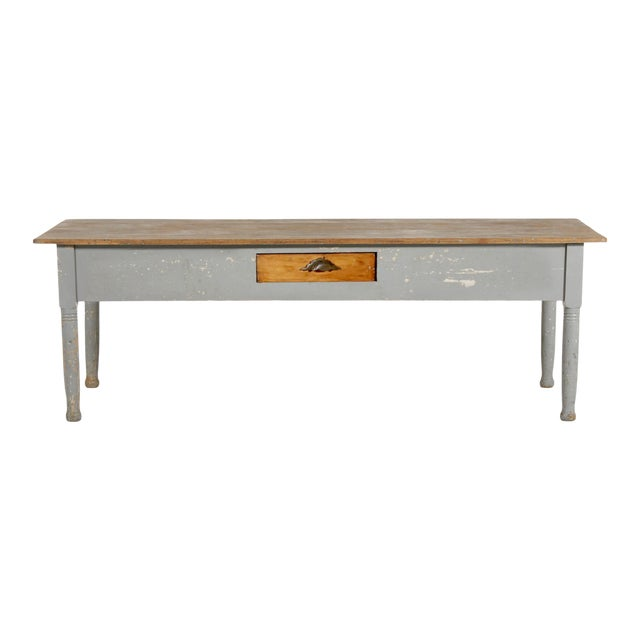 Early 20th Century American Farm Table For Sale
