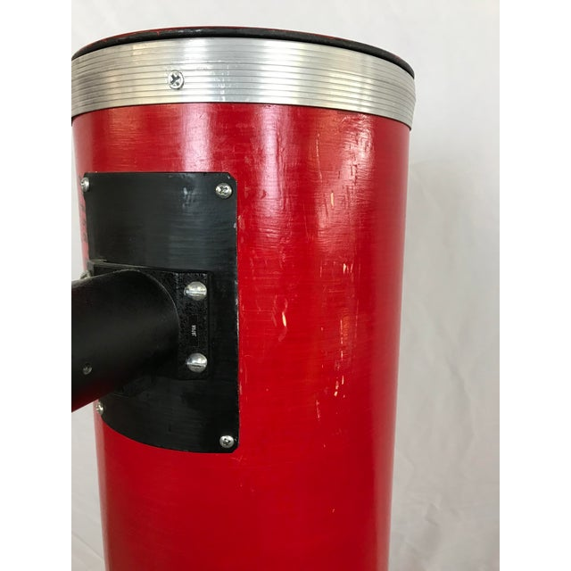 Dobsonian Type Red Telescope Functional Sculpture For Sale - Image 9 of 10