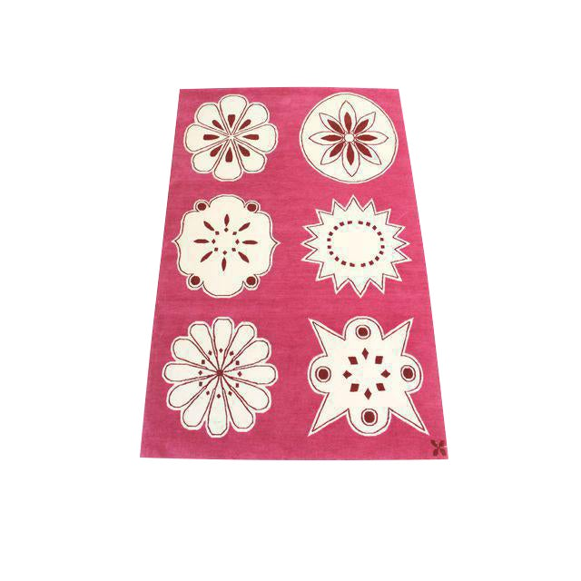 "Madeline Weinrib Hand-Knotted Tibetan Wool ""Medina"" Rug For Sale"