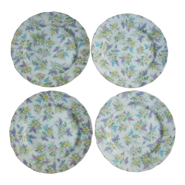Lefton China Dessert Plates - Set of 4 - Image 1 of 5