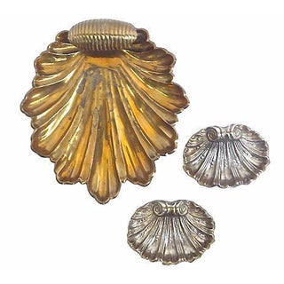 Vintage Leaf & Shell Dishes - Set of 3 For Sale