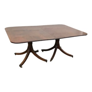 Georgian Double Pedestal Dining Tables/ Two Leaves For Sale