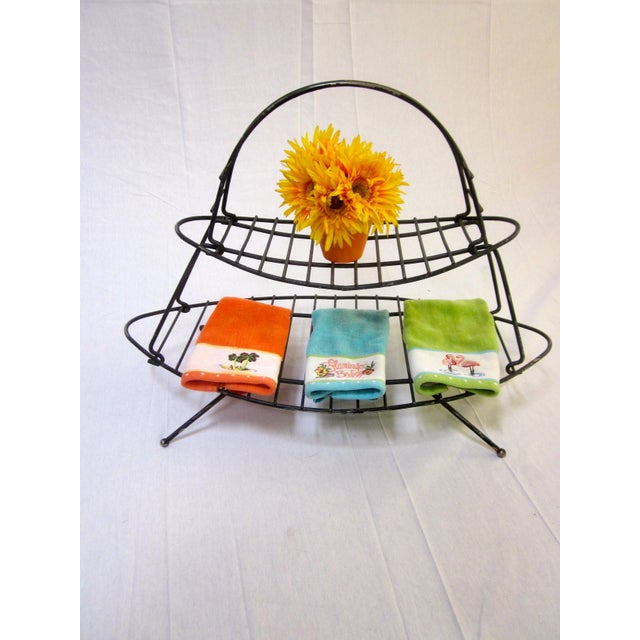 Mid-Century Modern Modernist Wire Magazine Rack - Image 3 of 6