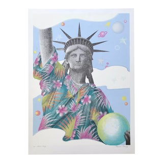 """1980s """"Liberty Series #4"""" Lithograph Artist's Proof by Barbara Cesery For Sale"""