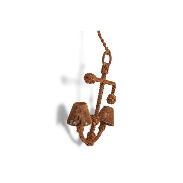 Audoux Minet 'Anchor' Rope Sconce For Sale - Image 6 of 10