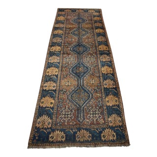 Antique Persian Wool Rug Runner - 3′2″ × 8′9″
