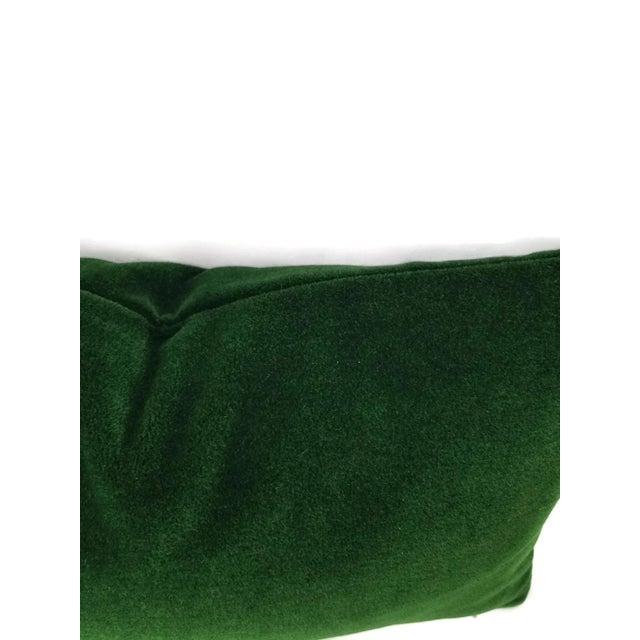 Contemporary Pierre Frey Bold Mohair Velvet in Forest - Dark Emerald Green Mohair Velvet Lumbar Pillow For Sale - Image 3 of 6