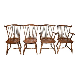 Vintage Pa House Windsor Dining Chairs- Set of 4 For Sale