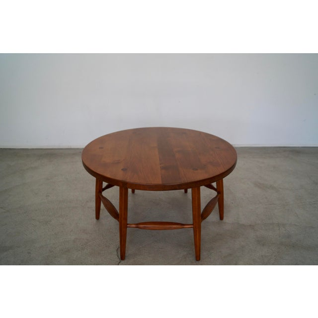 Incredible antique round coffee table for sale. It's from the 1930's, and is an original Monterey coffee table from that...