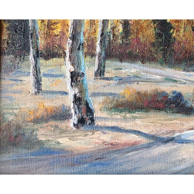 Autumn Aspens Original Painting For Sale - Image 5 of 9