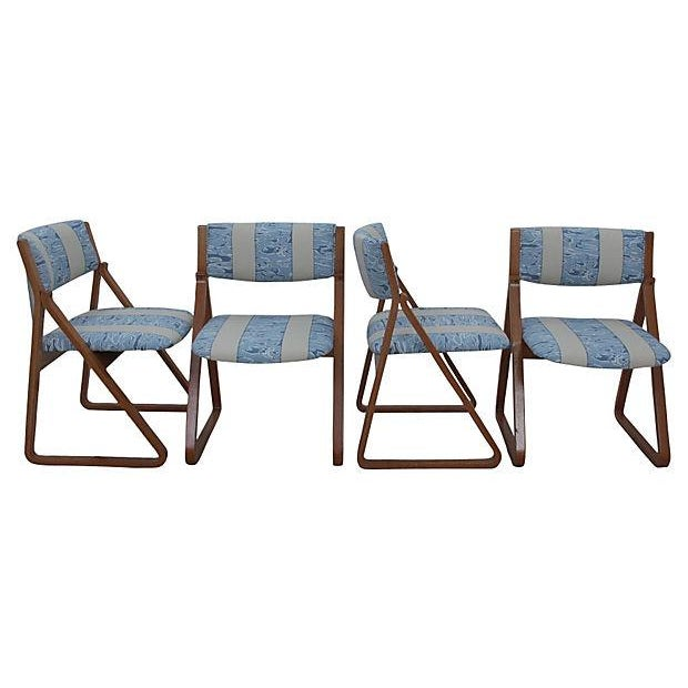 Waterwave Mid-century Dining Chairs - Set of 4 - Image 4 of 6