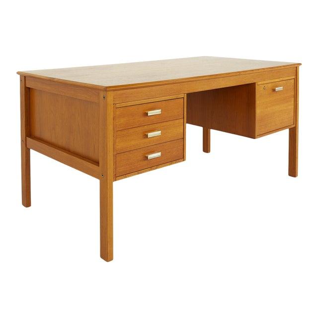 Farso Stolefabrik for Maurice Villency Mid Century Danish Teak Desk For Sale