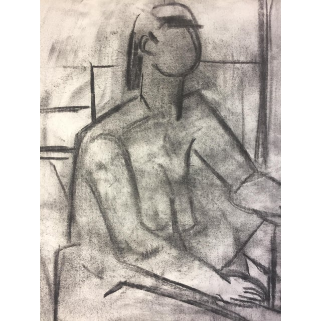 1950's Cubist Charcoal Female Nude Henry Woon Bay Area Artist For Sale In New York - Image 6 of 8