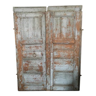 Pair of Antique European Barn Doors For Sale