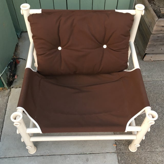 Vintage PVC Pipe Lounge Chair For Sale In San Francisco - Image 6 of 7