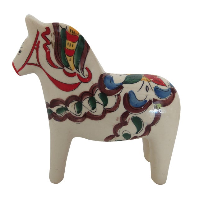 Scandia Hand-Painted Horse Statue - Image 1 of 3