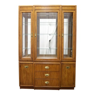 Drexel Heritage Passage Campaign Style China Cabinet For Sale