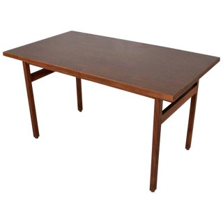 Jens Risom Walnut Table Desk Midcentury Period For Sale