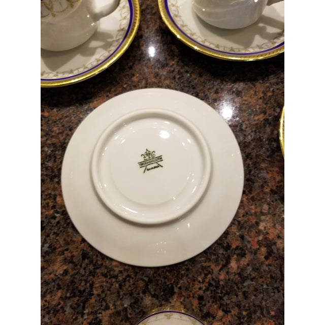 Collection of Eleven German Porcelain Demitasse Cups and Saucers For Sale - Image 4 of 9