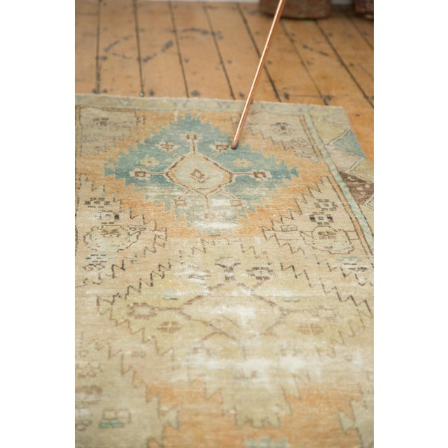 "Vintage Distressed Oushak Rug Runner - 3'2"" X 9'2"" - Image 9 of 11"