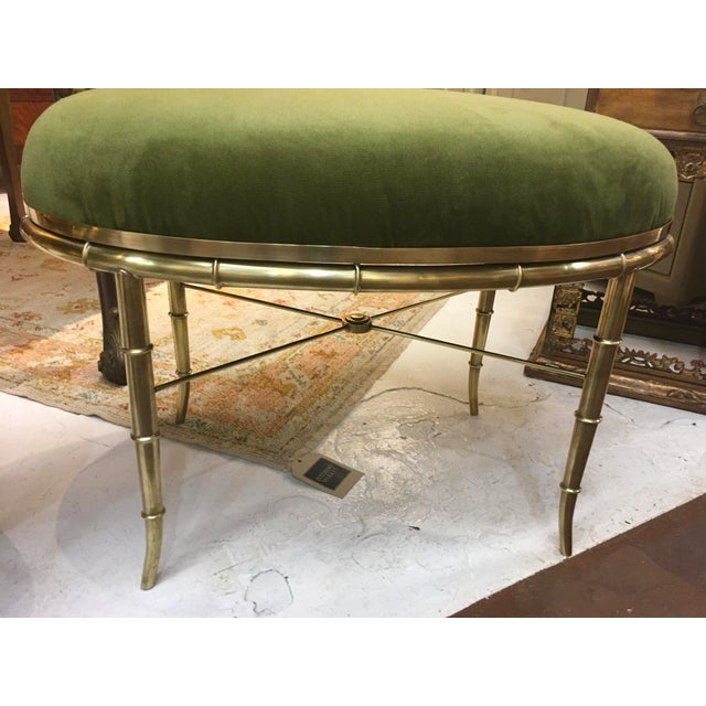 Mid-Century Modern Mastercraft Brass Faux Bamboo Benches - a Pair For Sale - Image 3 of 10