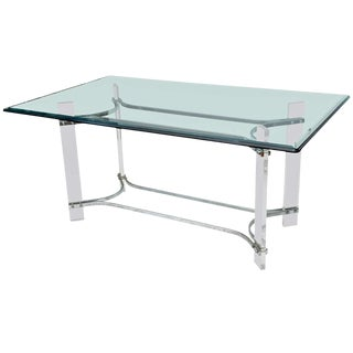 Charles Hollis Jones Lucite Table For Sale