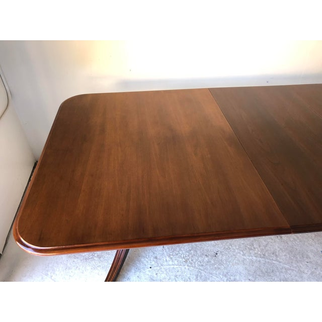 Brown Thomasville Dining Table Fruitwood 112 X 45 Excellent For Sale - Image 8 of 12