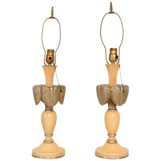 Neoclassical Sculptural Table Lamps, Circa 1940s For Sale
