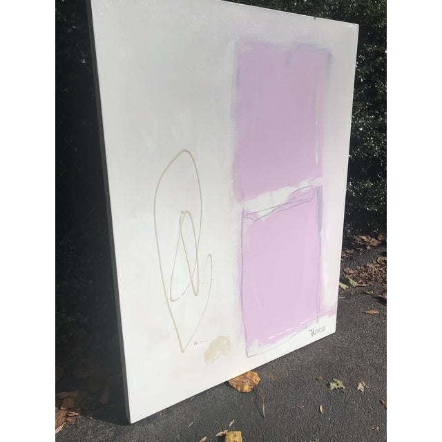 Canvas Shapes in Pink Contemporary Painting For Sale - Image 7 of 7