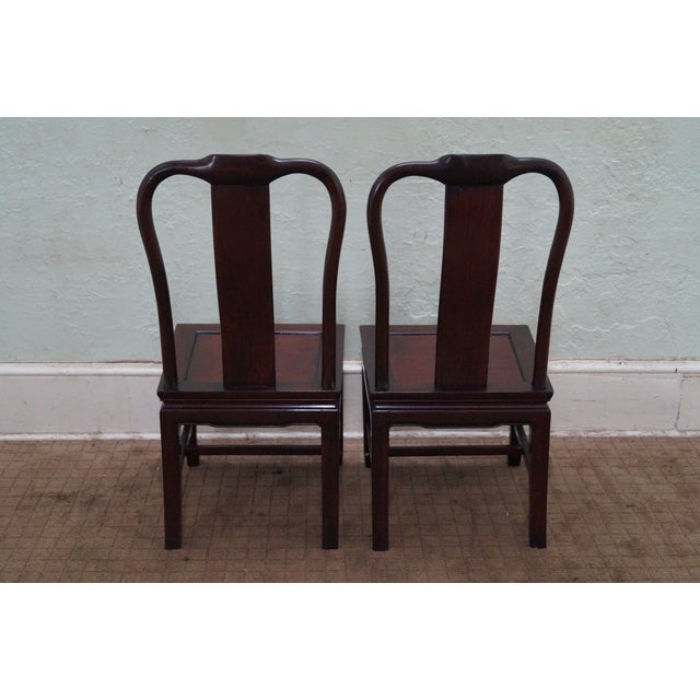 Chinese Rosewood Dining Chairs - Set of 4 - Image 4 of 10