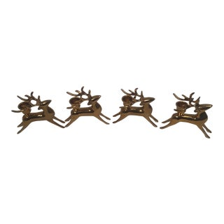 Brass Reindeer Candle Holders - Set of 6 For Sale