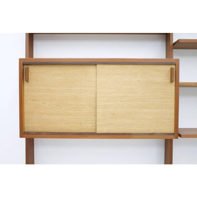 1950s Dieter Waeckerlin Shelf System Wall Unit in Teak Wood, Behr Germany, 1950s For Sale - Image 5 of 11