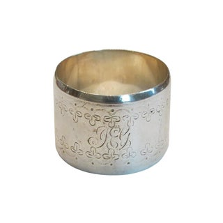 Mid 19th Century Sheffield England Sterling Napkin Ring For Sale