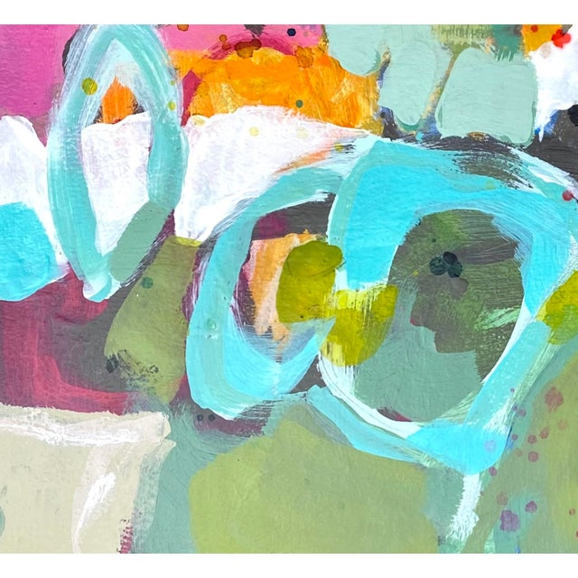"""2020s """"Let's Not Make This Awkward"""" Contemporary Mixed-Media Painting by Gina Cochran For Sale - Image 5 of 5"""