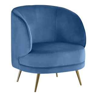 Carrie Armchair in Blue For Sale