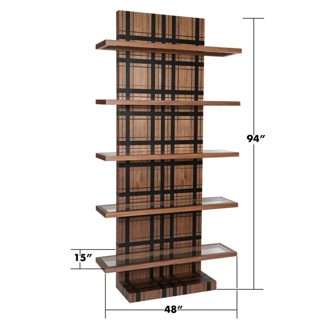 Not Yet Made - Made To Order Modern Orian Bookcase For Sale - Image 5 of 6