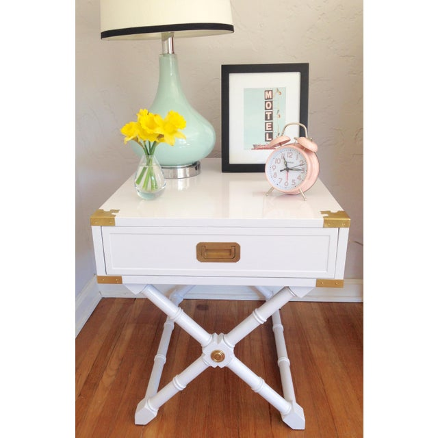 Hekman Campaign Nightstand or End Table - Image 3 of 7