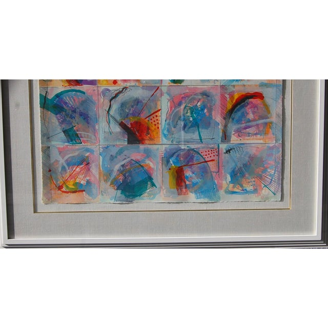 """Calman Shemi color lithograph """"Flowers in the window"""" AP 2/60 pencil signed 26x35.5 white lacquer framed 36x46 Calman..."""