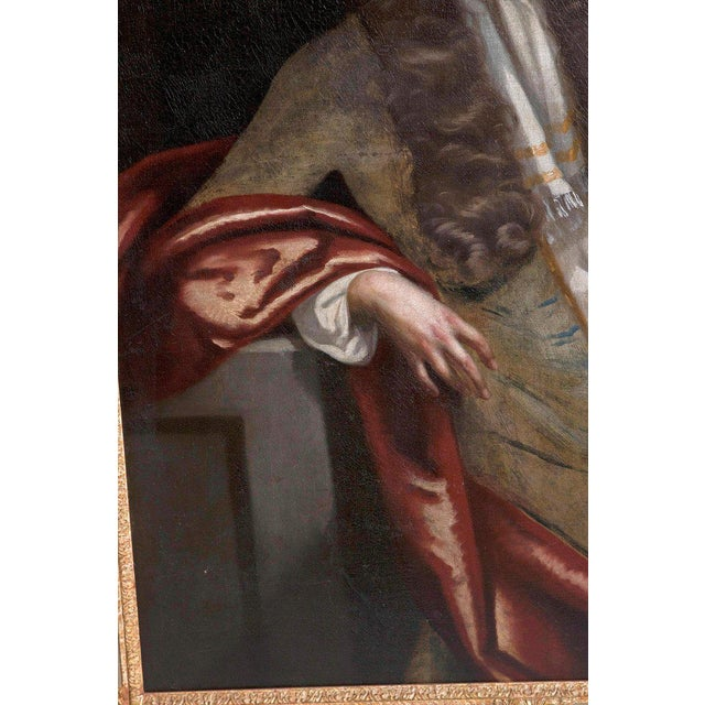 Early 18th Century 18th Century Oil on Canvas Portrait of an English Gentleman For Sale - Image 5 of 13