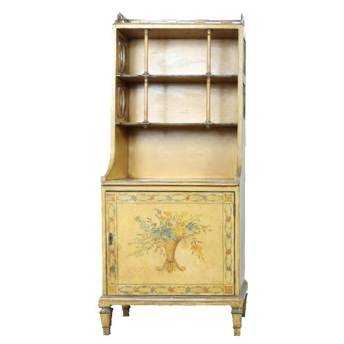 Hand-Painted Yellow Cabinet - Image 1 of 11