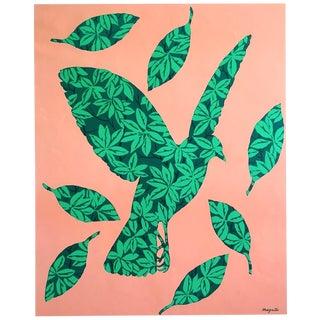 """Rene Magritte Rare Vintage 1979 Dumont Art Calendar Lithograph Print """" l'Envolee ( La Joie De Vivre ) """" 1964 For Sale"""
