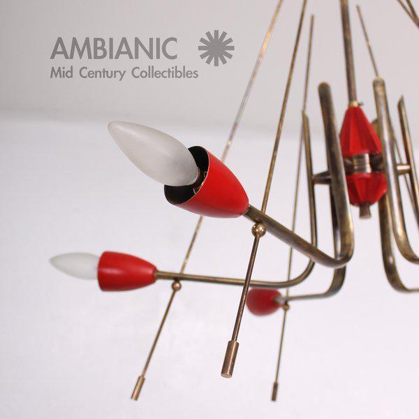 Mid-Century Modern Italian Sputnik Chandelier For Sale - Image 4 of 10