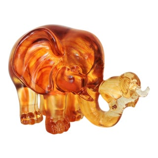 Liuli 2013 Limited Edition - Crystal Glass Elephant & Baby #547