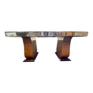 English Swarovski Crystal Topped Dining Table For Sale