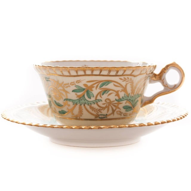 This is for a set of 11 cups and 11 saucers, 22 pieces total. These match the dessert/luncheon plates and the demi tasse...
