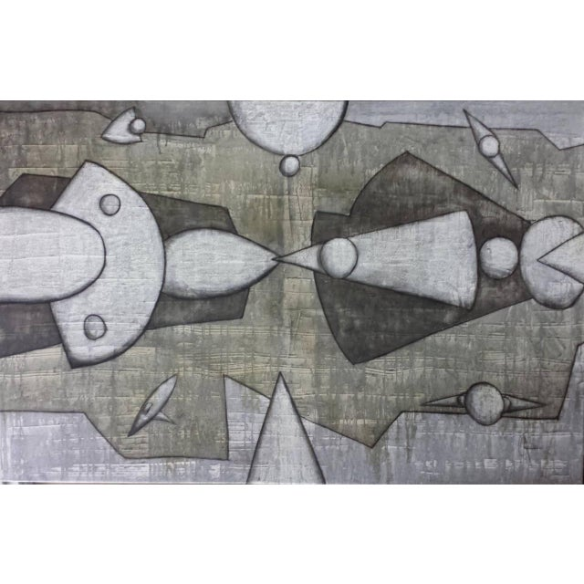 "2000 - 2009 Maximo Caminero ""Complicidad Universal"" Contemporary Abstract Oil Painting For Sale - Image 5 of 5"