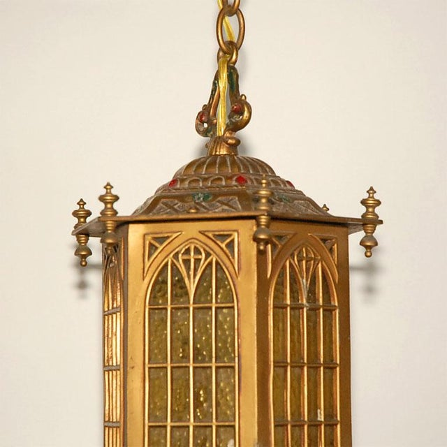 Gothic Style Hall Lantern For Sale In Los Angeles - Image 6 of 9