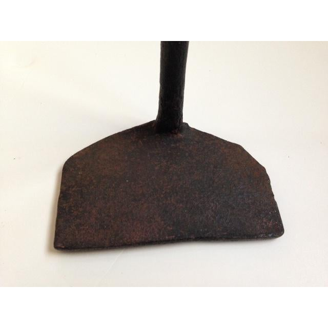 18th Century Rustic Primitive Hand Forged Iron Fireplace/Hearth Tools - a Pair For Sale - Image 9 of 10