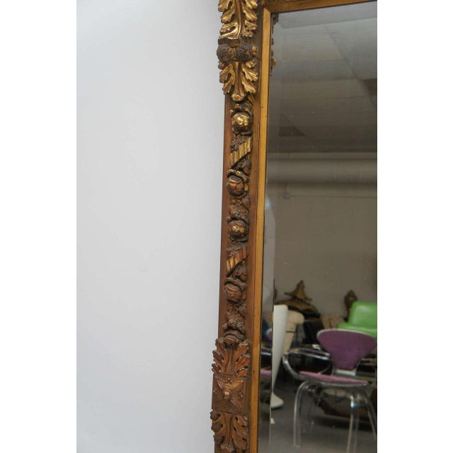 Gold Gilded Floor or Mantle Mirror - Image 4 of 9