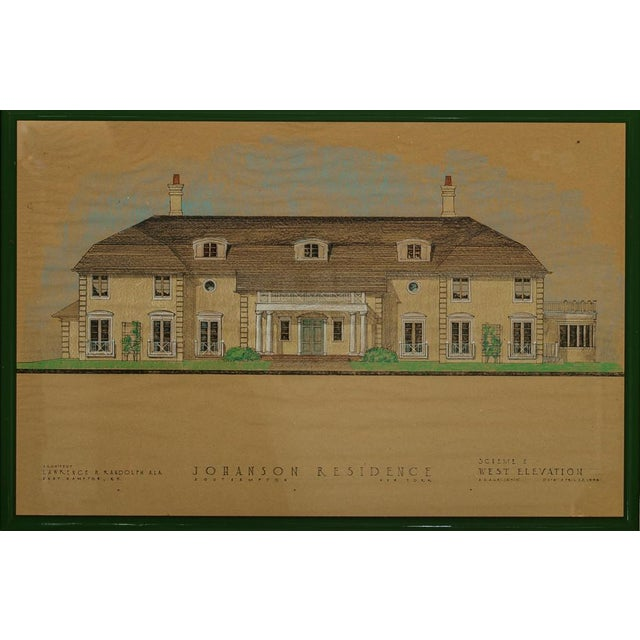 "Johanson Residence"" Pastel Architectural Rendering - Image 1 of 9"